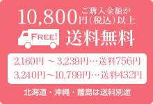 ご購入金額が10800円(税込)以上送料無料 北海道・沖縄・離島は送料別途